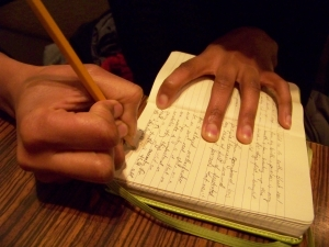 whitney-french-hand-writing