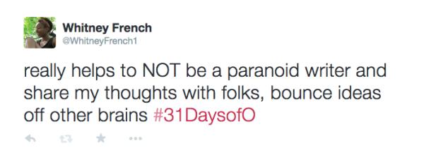 #31DaysofO_paranoid